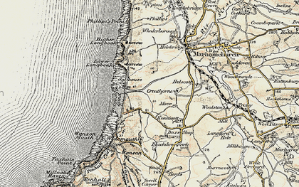 Old map of Widemouth Bay in 1900