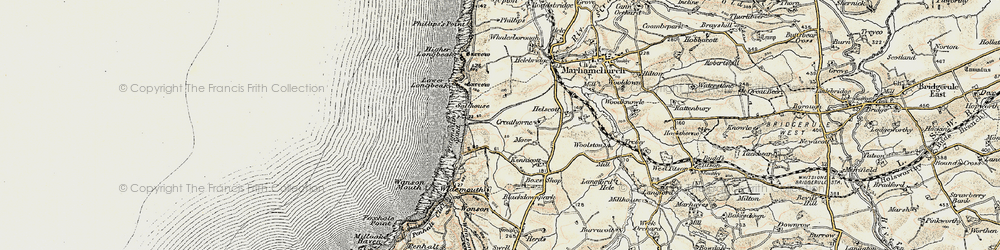 Old map of Widemouth Sand in 1900