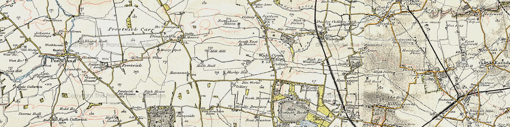 Old map of Wideopen in 1901-1903