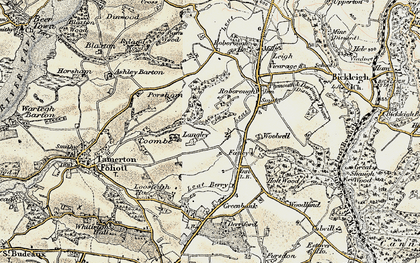 Old map of Widewell in 1899-1900