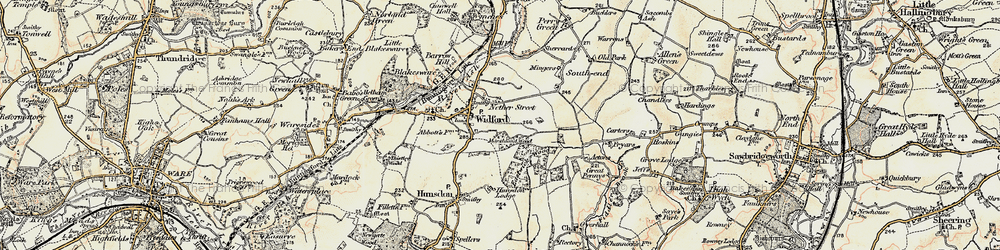 Old map of Widford in 1898-1899