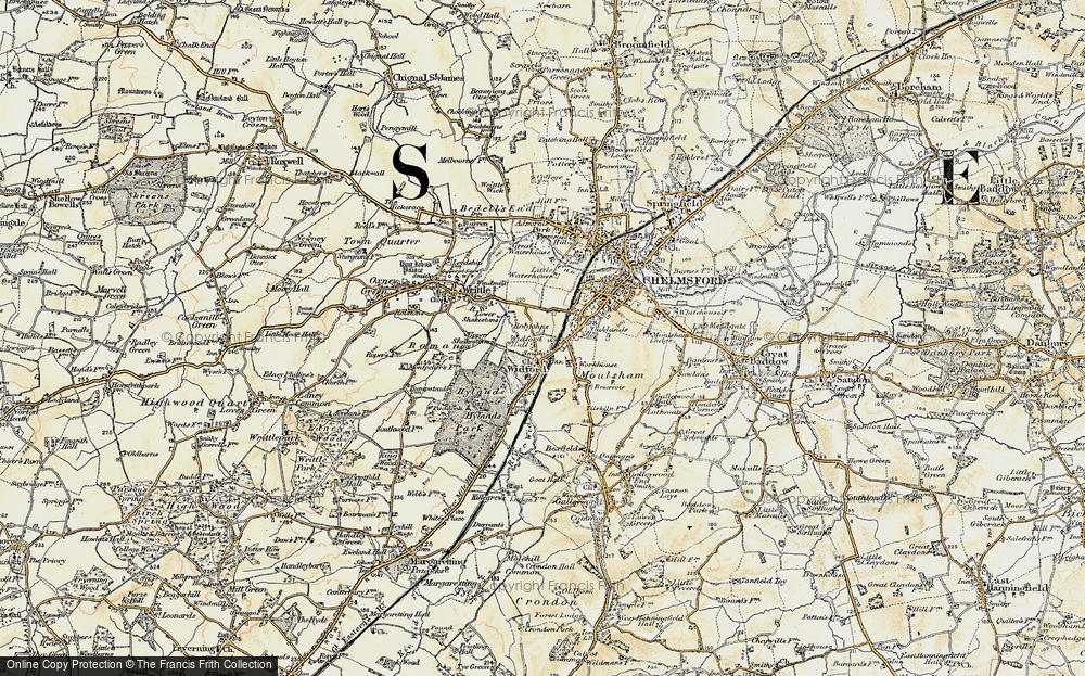 Old Map of Widford, 1898 in 1898