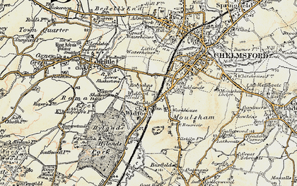 Old map of Widford in 1898