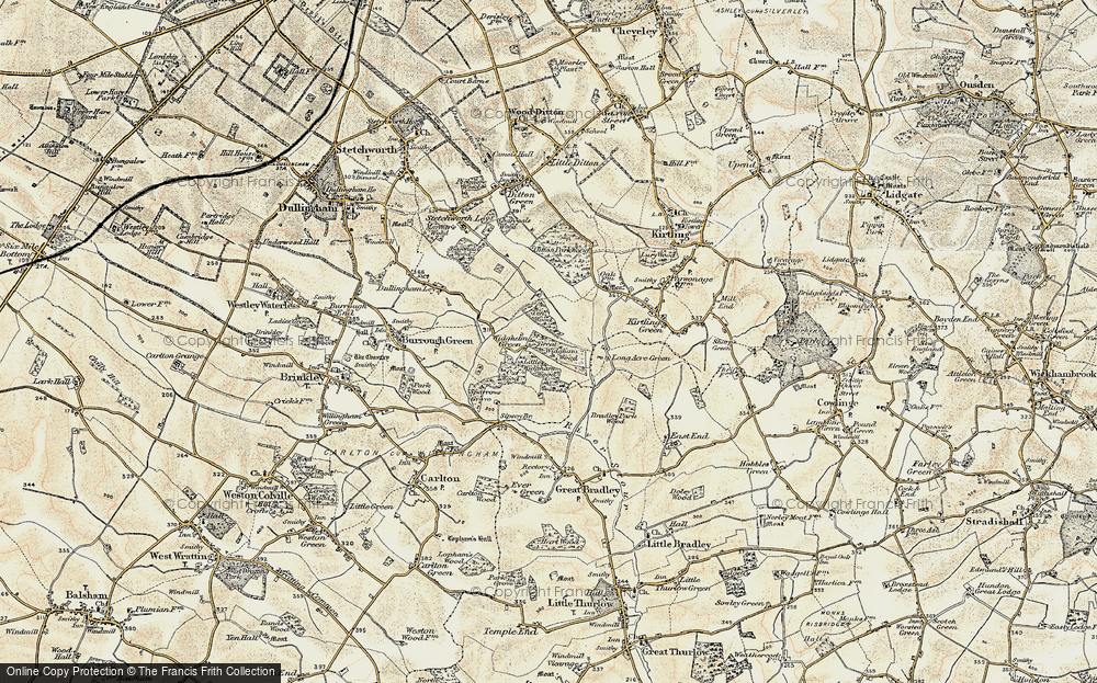 Old Map of Widgham Green, 1899-1901 in 1899-1901
