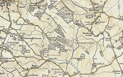 Old map of Widgham Green in 1899-1901