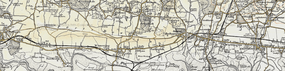 Old map of Widley in 1897-1899
