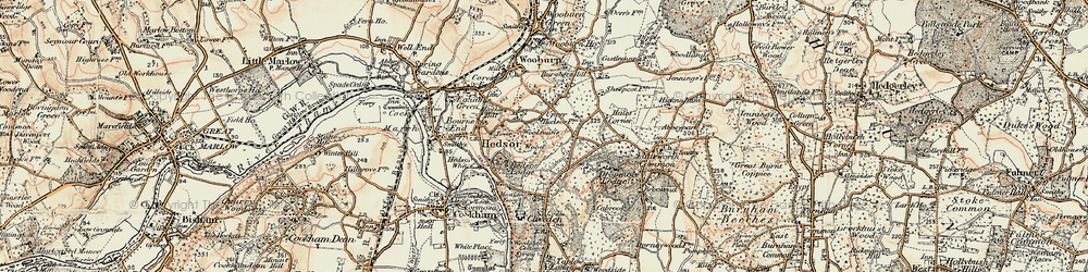 Old map of Widmoor in 1897-1898