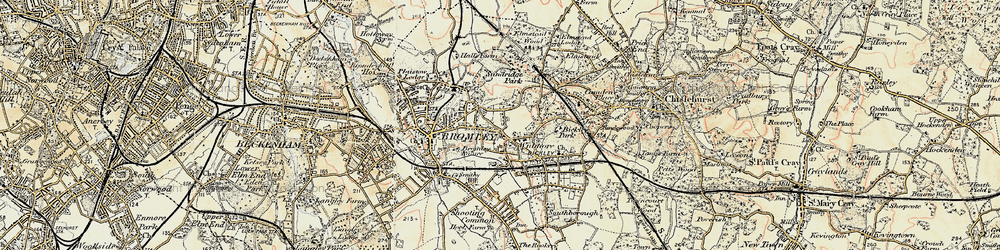 Old map of Widmore in 1897-1902
