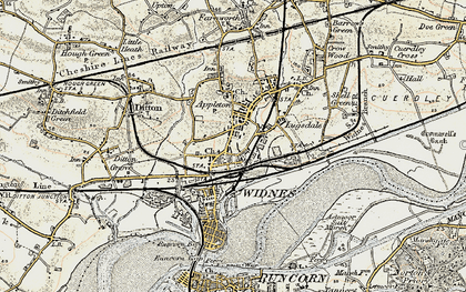 Old map of Widnes in 1902-1903