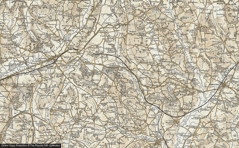 Old Map of Widworthy, 1898-1900 in 1898-1900