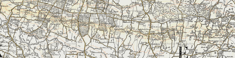 Old map of Wierton in 1897-1898