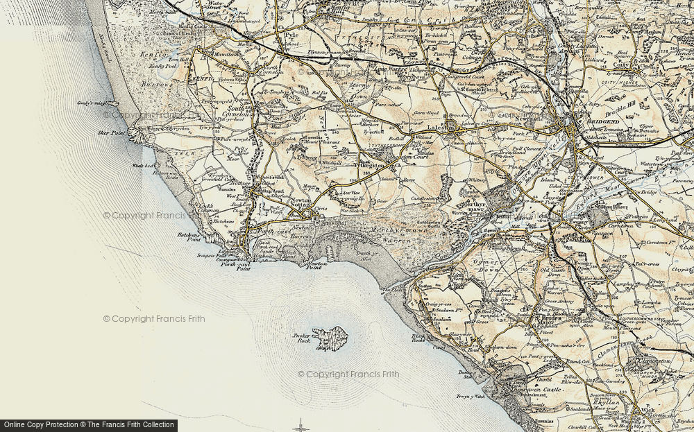Old Map of Wig Fach, 1900-1901 in 1900-1901