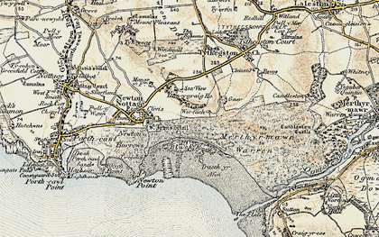 Old map of Wig Fach in 1900-1901