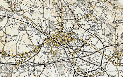 Old map of Wigan in 1903