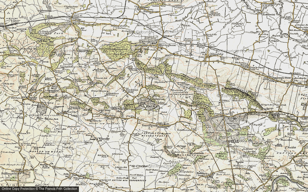 Old Map of Historic Map covering Airyholme in 1903-1904