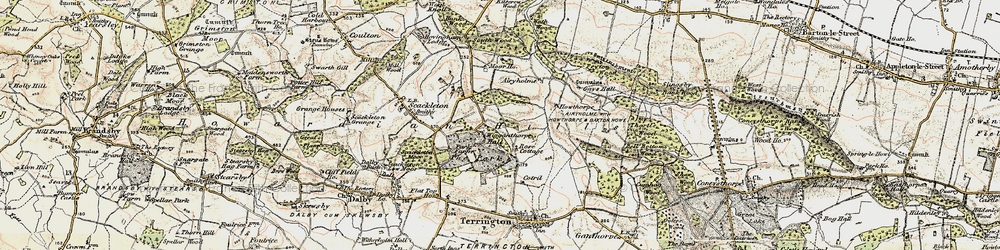 Old map of Wiganthorpe in 1903-1904