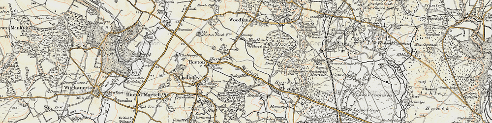 Old map of Wigbeth in 1897-1909