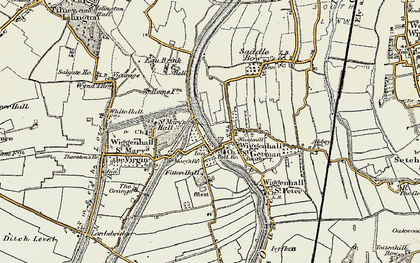 Old map of Wiggenhall St Germans in 1901-1902