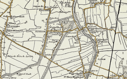 Old map of Wiggenhall St Mary the Virgin in 1901-1902