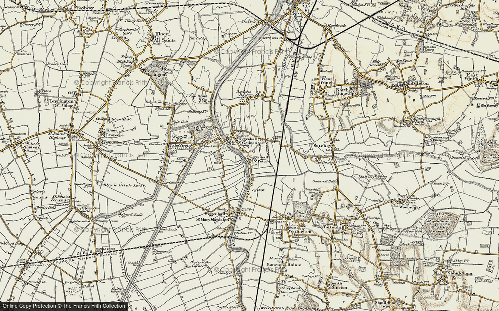 Old Map of Wiggenhall St Peter, 1901-1902 in 1901-1902