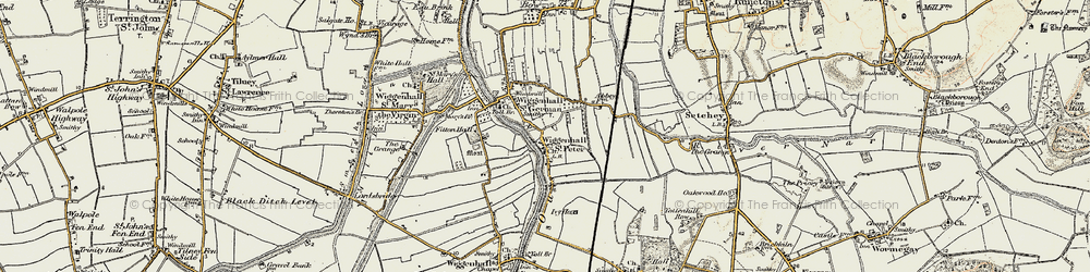 Old map of Wiggenhall St Peter in 1901-1902