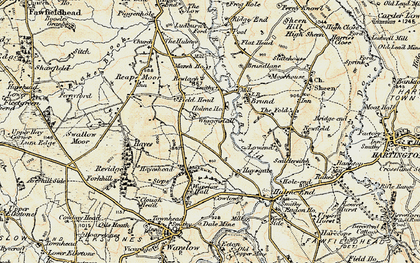 Old map of Wigginstall in 1902-1903