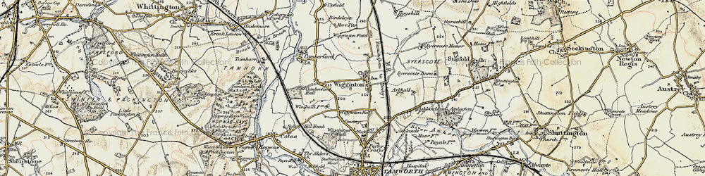 Old map of Wigginton in 1902