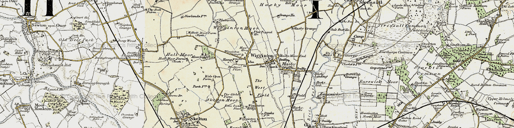 Old map of Wigginton Moor in 1903-1904