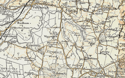 Old map of Wiggonholt Common in 1897-1900