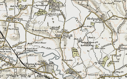 Old map of Wighill in 1903-1904