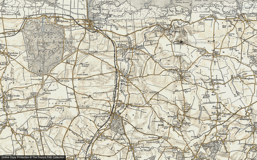 Old Map of Wighton, 1901-1902 in 1901-1902