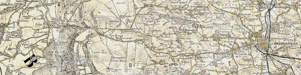 Old map of Wigley in 1902-1903