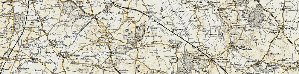 Old map of Wigmarsh in 1902