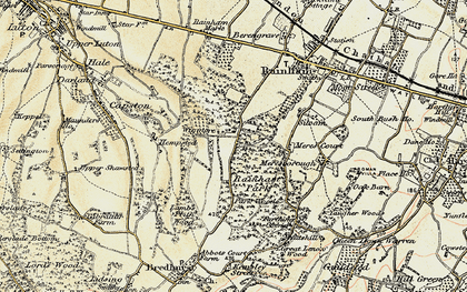 Old map of Wigmore in 1897-1898