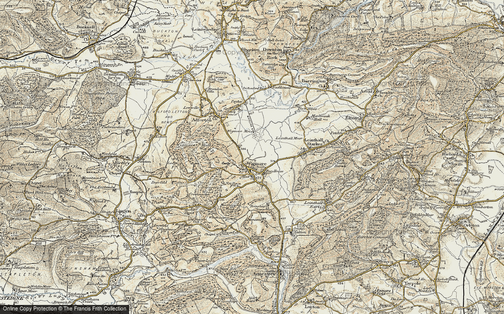 Old Map of Wigmore, 1901-1903 in 1901-1903