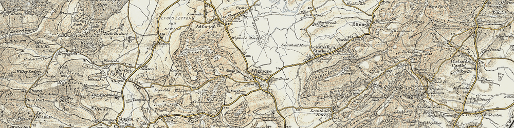 Old map of Wigmore Rolls in 1901-1903
