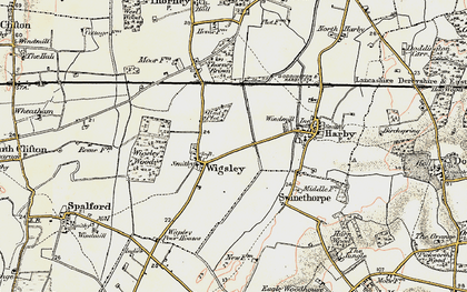 Old map of Wigsley in 1902-1903