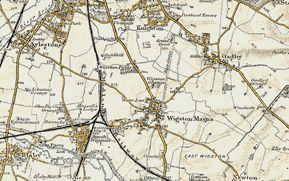 Old map of Wigston in 1901-1903