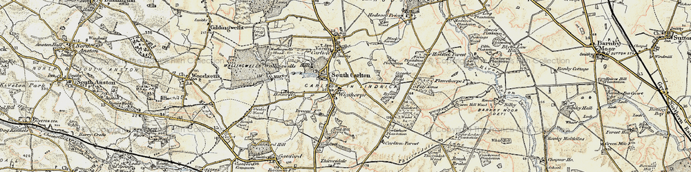 Old map of Wigthorpe in 1902-1903