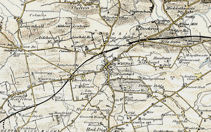 Old map of Wigton in 1901-1904