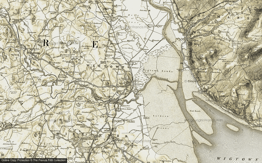 Old Map of Wigtown, 1905 in 1905