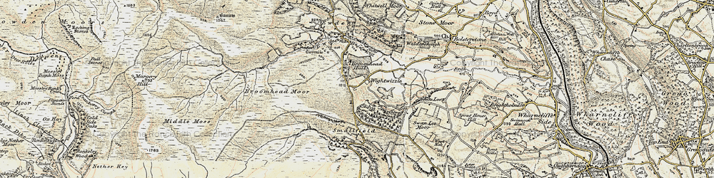 Old map of Wigtwizzle in 1903