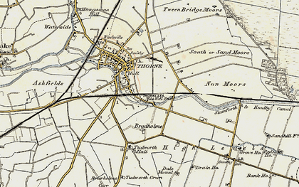 Old map of Wike Well End in 1903