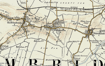 Old map of Wilburton in 1901