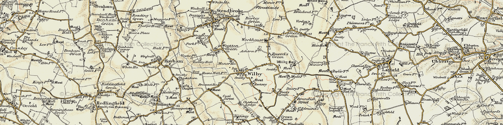 Old map of Wilby in 1901