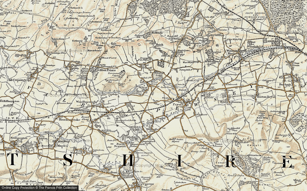 Old Map of Wilcot, 1897-1899 in 1897-1899