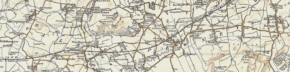 Old map of Wilcot in 1897-1899