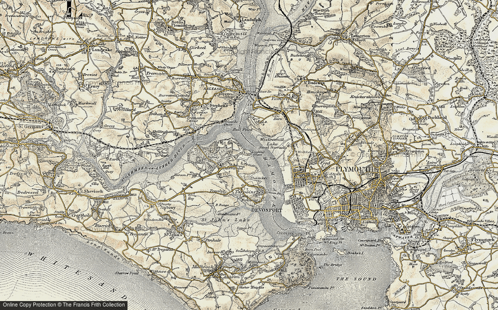 Old Map of Wilcove, 1899-1900 in 1899-1900