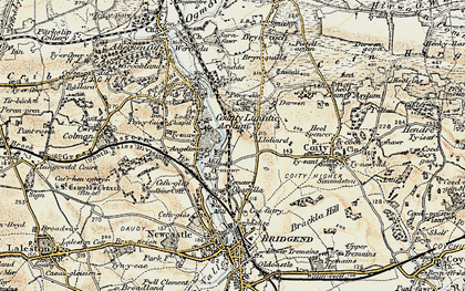 Old map of Wild Mill in 1900
