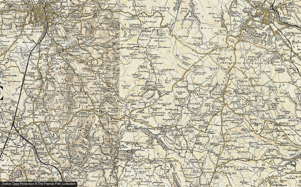 Old Map of Wildboarclough, 1902-1903 in 1902-1903